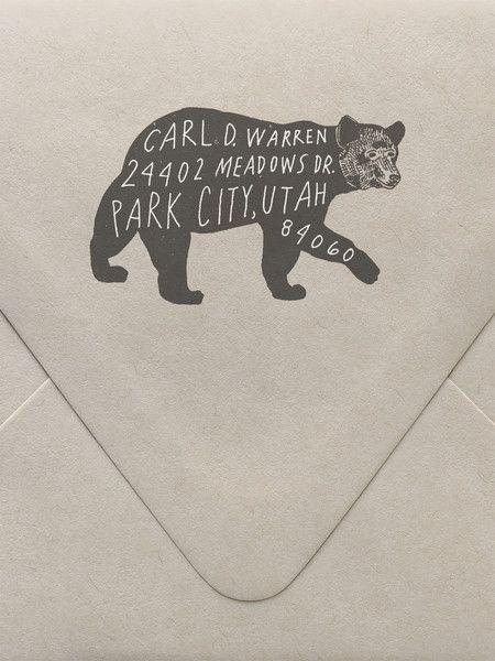 زفاف - Bear Custom Stamp