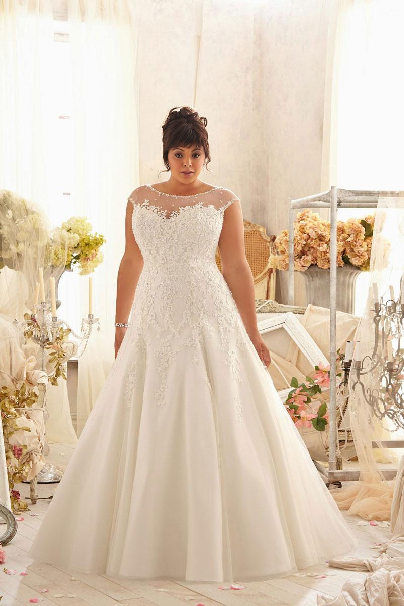 brush train empire bateau a line lace wedding dress