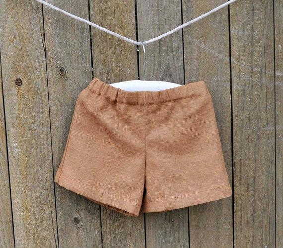 Wedding - Linen shorts, brown linen, Boys shorts, many colors...3m,6m,9m,12m,18m,2t,3t,4t,5,6,7,8
