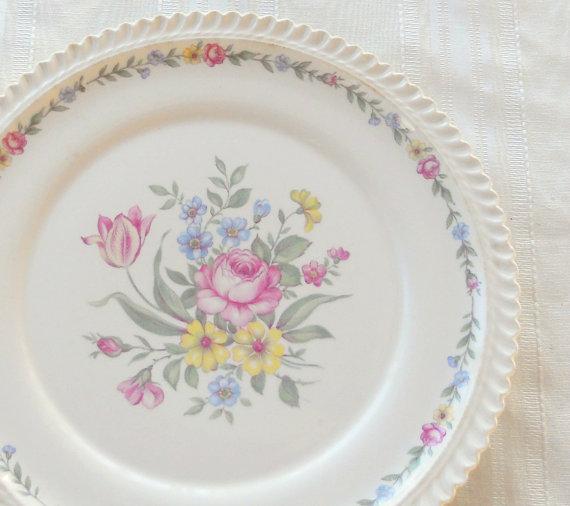 Свадьба - Harker Royal Gadroon Bouquet Dinner Plate, Vintage, Wedding, Cake Plate