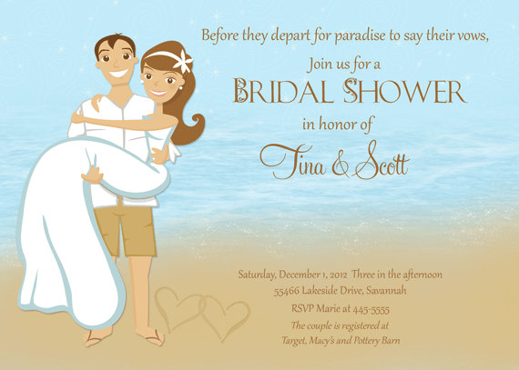 Beach Couple Shower Bridal Shower Invitation Printable 2260532
