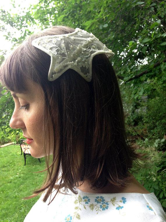 زفاف - Vintage Star Fish Wedding Halo Headband Tiara