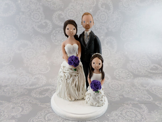 Mariage - Custom Made Family Cake Topper