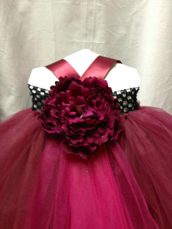 f92c584e160 Cranberry Flower Girl Dress Special Occasion Dress Pageant Dress ...