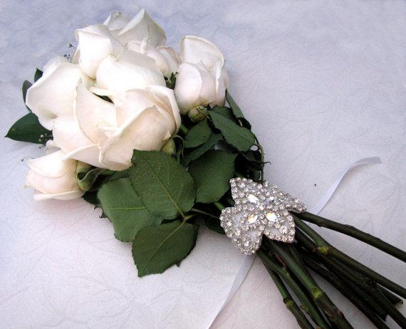 Wedding - Crystal Rhinestone Wedding Bouquet Wrap