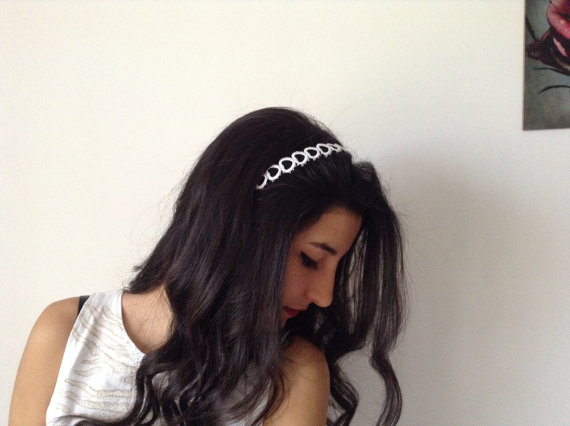 Hochzeit - Bridal Hair Accessory, white, headband, Wedding hair Accessory, handmade, custom design
