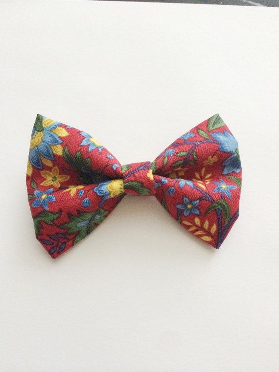 Hochzeit - Toddler Girl, boy Adult, Baby red blue blue floral,Bow,Bow tie,hair bow Wedding Formal alligator Clip,elastic headband, hairclip,Velcro