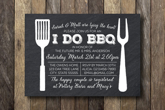 I Do Barbecue Invitation Engagement Party Printable Bbq Engagment