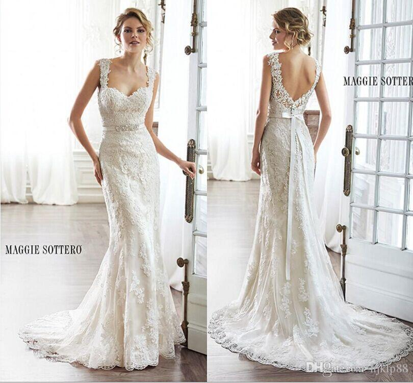 Marvelous 2015 New Arrival Sexy Wedding Dresses Sweetheart Strapless Mermaid Applique  Lace Vintage Bridal Gown Detachable Bolero Button Wedding Dress Online With  ...