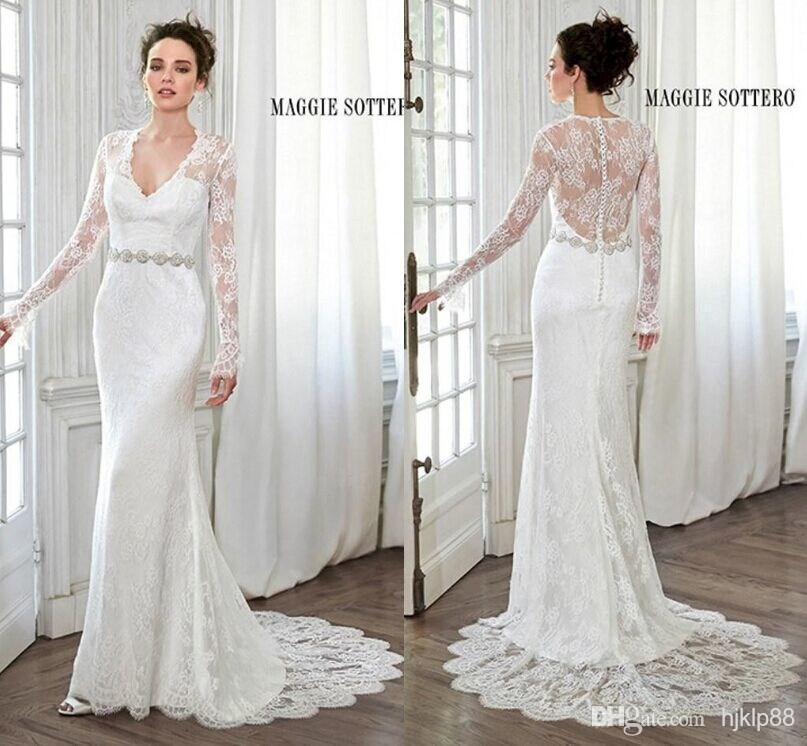 Vintage Wedding Dresses 2015 Elegant Beach Bridal Gowns With Sheer ...