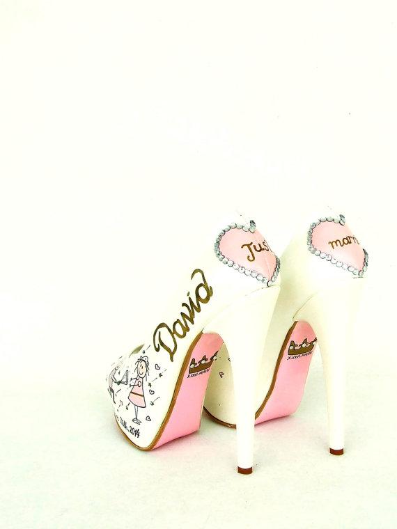 Mariage - Blush&Gold Wedding Shoes - Customized Bridal Shoes