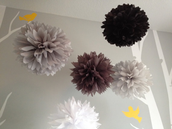 Gray matter 5 tissue paper pom pom flower diy decor kit frilly gray matter 5 tissue paper pom pom flower diy decor kit frilly paper flowers mightylinksfo