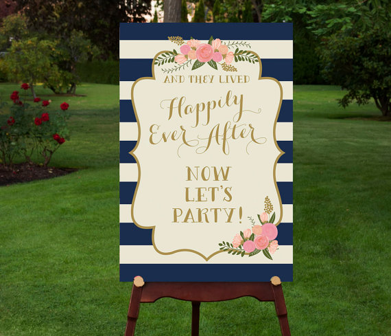 Printable Reception Sign Reception Entrance Lets Party