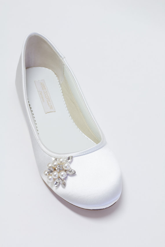 Mariage - Flat Wedding Shoes - Ballet Flats - Choose From Over 150 Colors - Pearls - Crystals - Parisxox By Arbie Goodfellow - Wedding Shoes - Flats