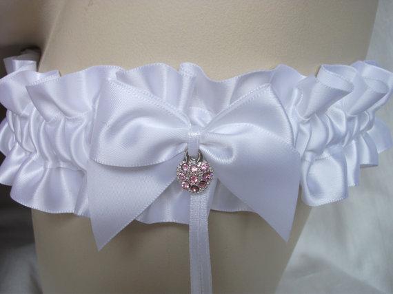 Свадьба - White , Satin , Garter , Sparkly , Rhinestone , Heart , Bride , Wedding , Bridal , Lingerie , Hen , Bachelorette , UK