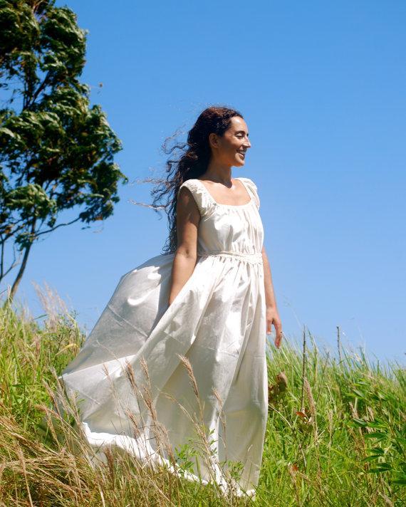 SAMPLE SALE - Boho Wedding Dress - Eco - Friendly Peasant Dress ...