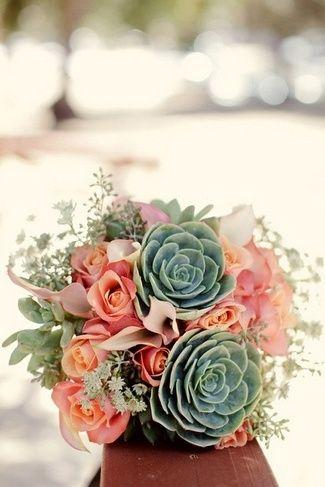 Wedding - Loads Of Lovely Succulent Bridal Bouquets