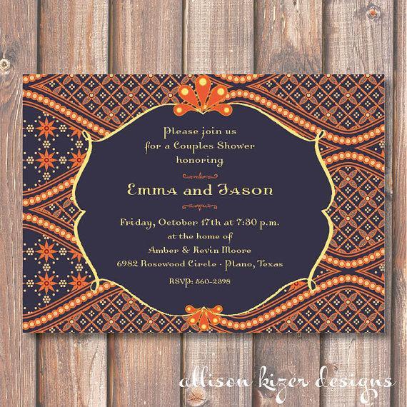 زفاف - Morocco Printable Wedding Shower Invitation