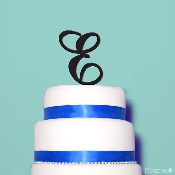 Mariage - Letter Cake Topper - Initials Wedding Cake Topper - Fast TURNAROUND -Peachwik- A,B,C,D,E,F,G,H,I,J,K,L,M,N,O,P,Q,R,S,T,U,V,W,X,Y,Z, & - PT45