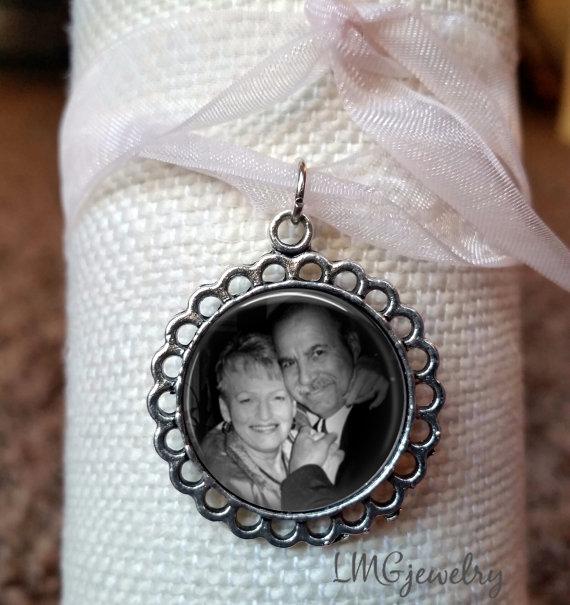 Boda - Custom Photo Wedding Bouquet Charm, Wedding Bouquet Memory Charm, Bridal Photo Memory Charm, Wedding Bouquet Charm, Wedding Keepsake