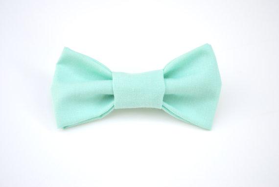 زفاف - Bow Tie. Turquoise bow tie, Mint Bow Tie, Photo prop, Toddler Bow Tie, Ring Bearer, Wedding party bow tie, Boy Bow tie