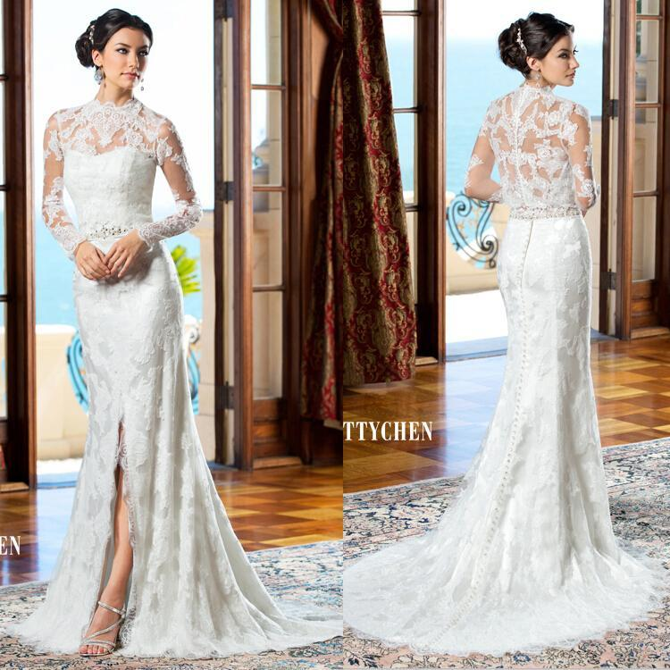 b6c17efd7a 2015 New Arrival Kitty Chen Detachable Split Front Wedding Dress Long  Sleeve Illusion Lace Beaded Sweetheart Bridal Gown Wedding Dresses Online  with ...