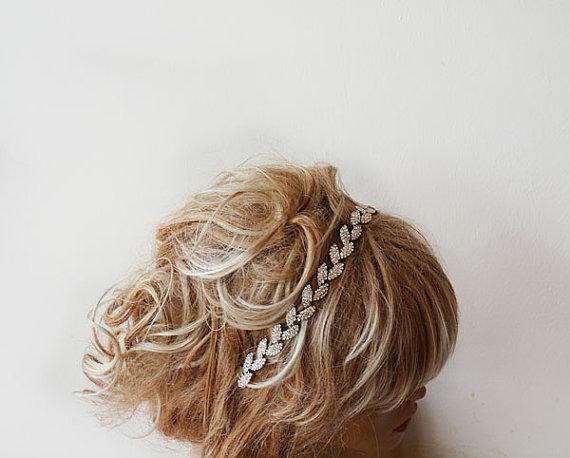 Свадьба - Bridal Headband, Wedding Headband, Bridal Rhinestone Headband, Wedding Headband, Bridal Hair Accessories, Wedding Hair Accessories