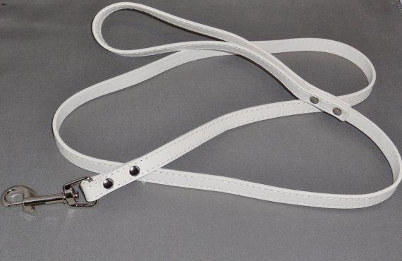 Свадьба - White Dog Leash for Wedding