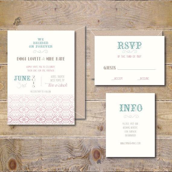 Wedding - Vintage Wedding Invitations, Rustic Wedding Invitations, Modern Wedding Invitations, Country Wedding, Summer Wedding Invitations
