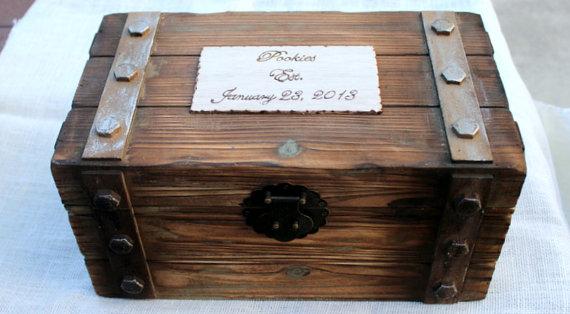 Personalized card box trunk wine love letter ceremony anniversary