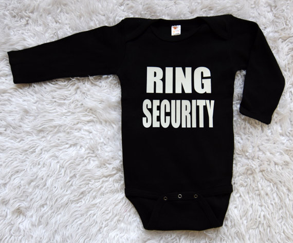 Wedding - Ring Security One Piece . Ring Bear Creeper . Ring Bearer One Piece Ring Security Shirt Ring Bear Shirt Ring Security Creeper Bowtie Creeper