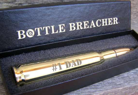 Gift For Dad Engraved 50 Caliber Bullet Bottle Opener With Gift Box