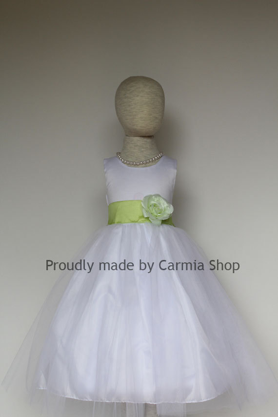 Key lime color wedding dresses
