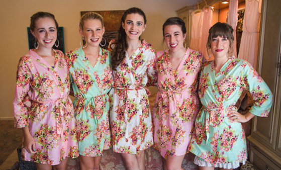 Hochzeit - Pastel Bridesmaids Robes. Every set available : Set of 2, Set of 3, Set of 4, Set of 5, Set of 6, Set of 7, Set of 8, Set of 9, Set of 10...