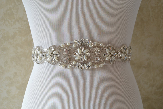 Свадьба - Wedding Belt, Bridal Belt, Sash Belt, Crystal Rhinestone And Pearl Belt