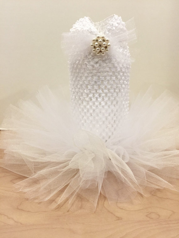 Свадьба - Dog Cat Wedding Tutu white or ivory Tutu with pearls pet clothing cat clothing pet clothes