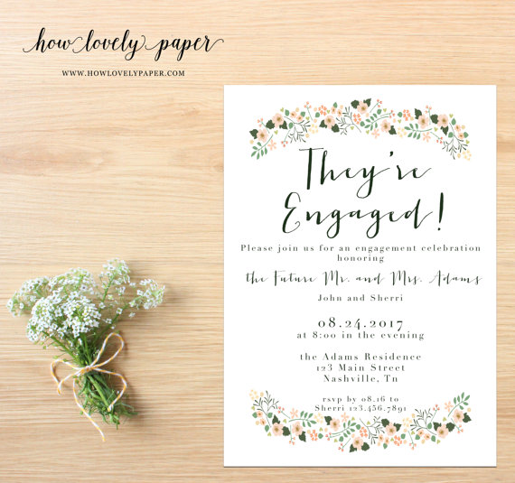 زفاف - Printable Engagement Party Invitation - the Sophie Collection
