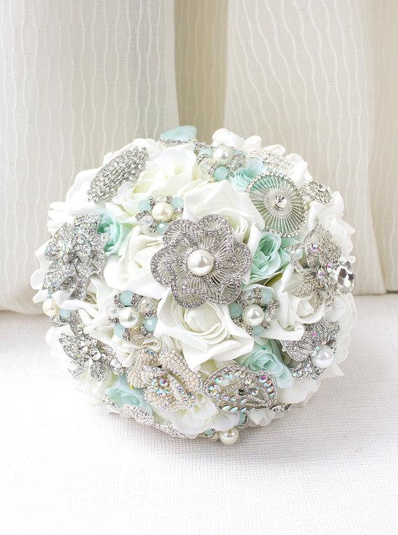 Colorful Silk Flower And Brooch Bouquet Ensign - Top Wedding Gowns ...