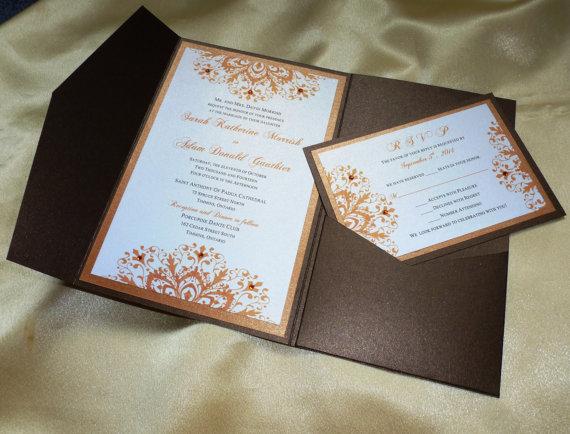 Fall / Autumn Wedding Invitation (sample)