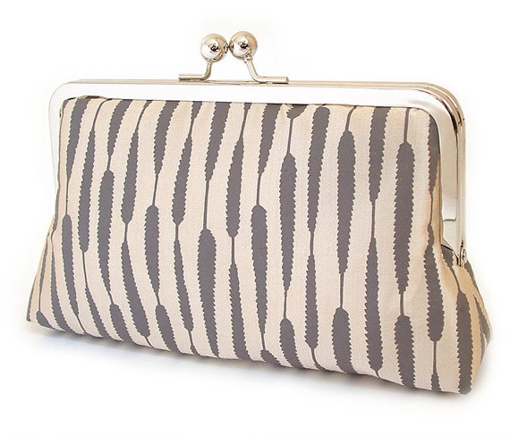 SALE Clutch Purse Wedding Bag Bridesmaid Gift Silk Stripe Gift Box #2262044 - Weddbook