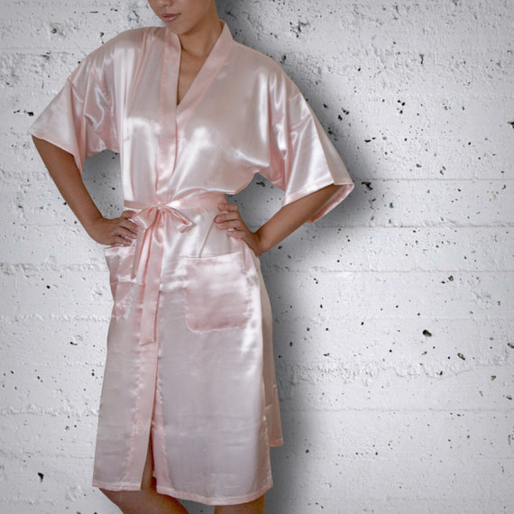 Mariage - Bridal Party Satin Robes - Plain for the bride, bridesmaid, maid of honor, junior bridesmaid, mother of the bride & mother of the groom