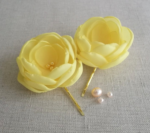 Canary yellow silk fabric flowers bridal bridesmaids dress sash shoe canary yellow silk fabric flowers bridal bridesmaids dress sash shoe clips brooch flower girls hair yellow weddings hair pins clips grips mightylinksfo