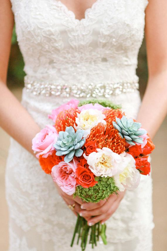 Mariage - The Sarah Bridal Couture Rhinestone Wedding Sash