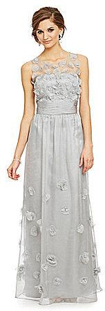 Mariage - JS Collections Sleeveless Chiffon Rosette Gown