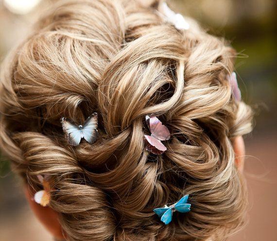 свадебные прически с бабочками