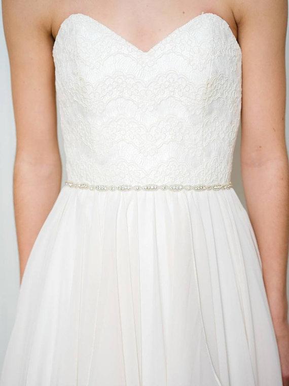 Mariage - Thin Bridal Belt