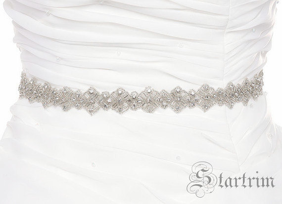 Mariage - SALE KIMORA rhinestone wedding bridal sash , belt
