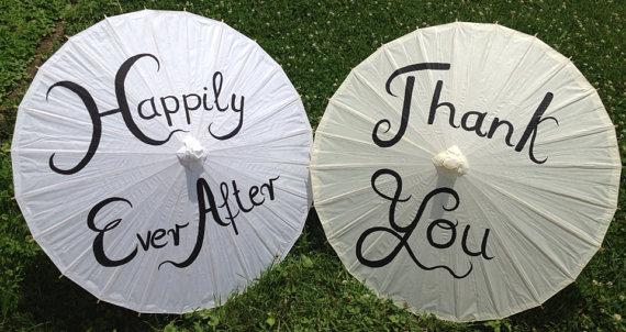 Hochzeit - Wedding Paper Parasols for Wedding Pictures, Wedding Decor, Wedding Ceremony, Beach Wedding, Paper Umbrella, Thank you Parasol, Just Married