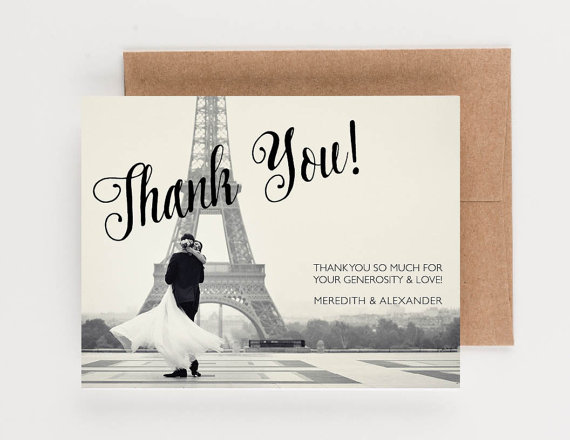 wedding thank you note wedding photograph thank you notes boxed