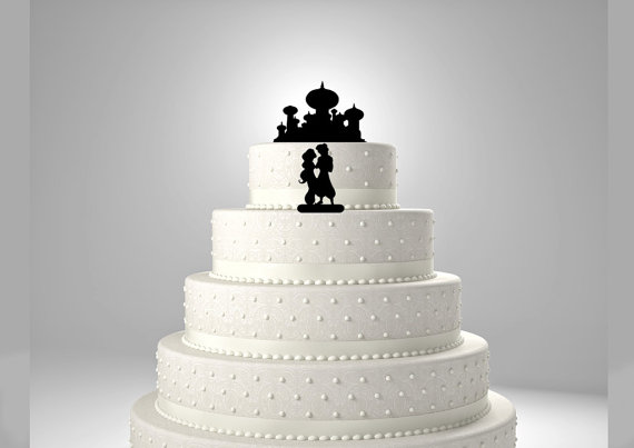 Aladdin And Jasmine Wedding Cake Topper